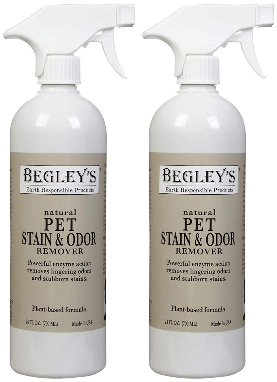 <p>Completely eliminate odors that encourage pets to repeat their bad behavior with the <span>Begley's Best Natural Pet Stain and Odor Remover</span> ($17).</p>
