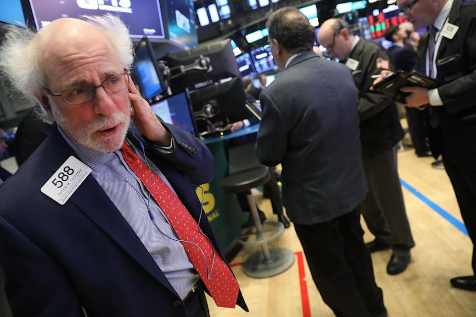 The Dow dropped more than 1,400 points.