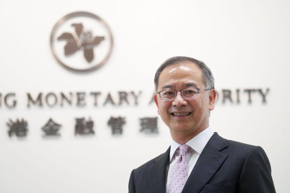 Eddie Yue Wai-man, chief executive of the Hong Kong Monetary Authority, said the authority will focus on connect schemes, fintech and green finance over the next few years. Photo: Winson Wong