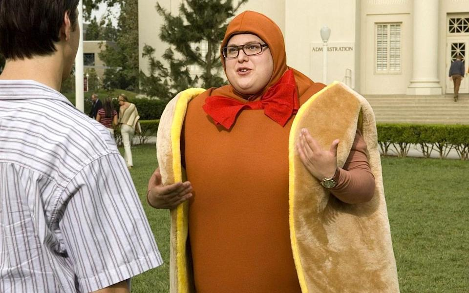 <p>…though dressing up as a Hotdog didn't help with the fat jibes either.<br></p>