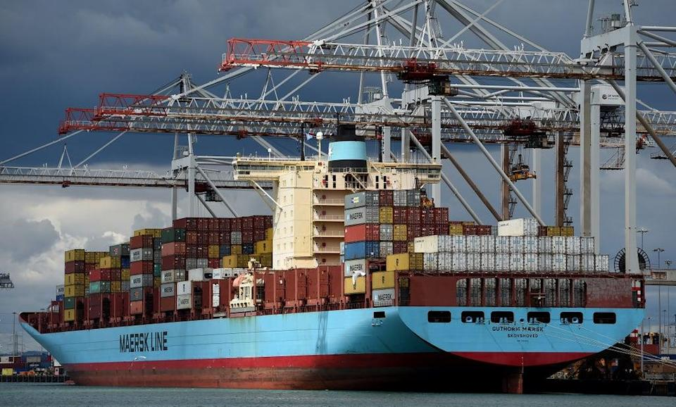 Shipping giant Maersk is diverting freight away from Felixstowe because of a backlog (Andrew Matthews/PA) (PA Archive)