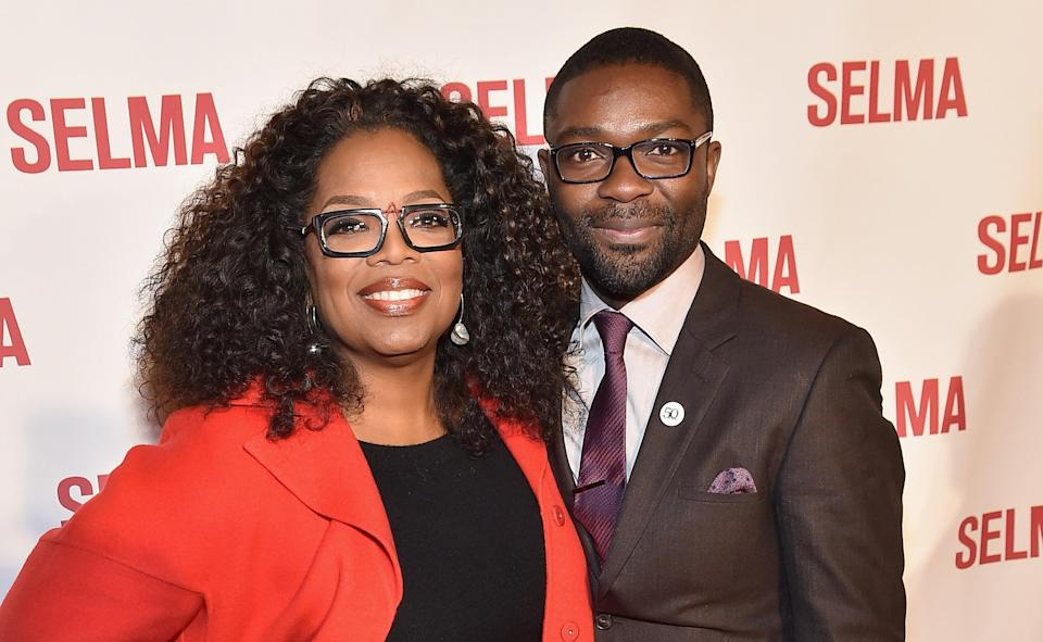 Oprah Winfrey and David Oyelowo (Paras Griffin/Getty Images for Paramount Pictures)