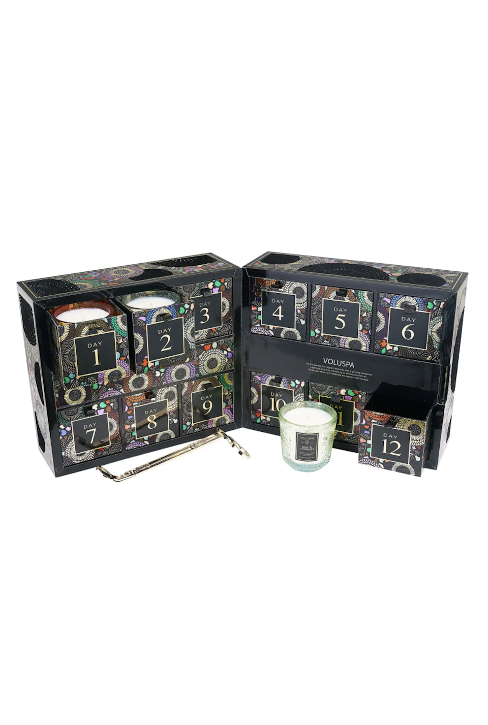 """<h2>Voluspa Japonica Advent Calendar Candle Set</h2><br>Share these 12 festive candles (or keep them all for yourself — no judgment) with this sensorial advent calendar.<br><br><strong>Voluspa</strong> Japonica Advent Calendar Candle Set, $, available at <a href=""""https://go.skimresources.com/?id=30283X879131&url=https%3A%2F%2Fwww.nordstrom.com%2Fs%2Fvoluspa-japonica-advent-calendar-candle-set%2F6458112%3F"""" rel=""""nofollow noopener"""" target=""""_blank"""" data-ylk=""""slk:Nordstrom"""" class=""""link rapid-noclick-resp"""">Nordstrom</a>"""