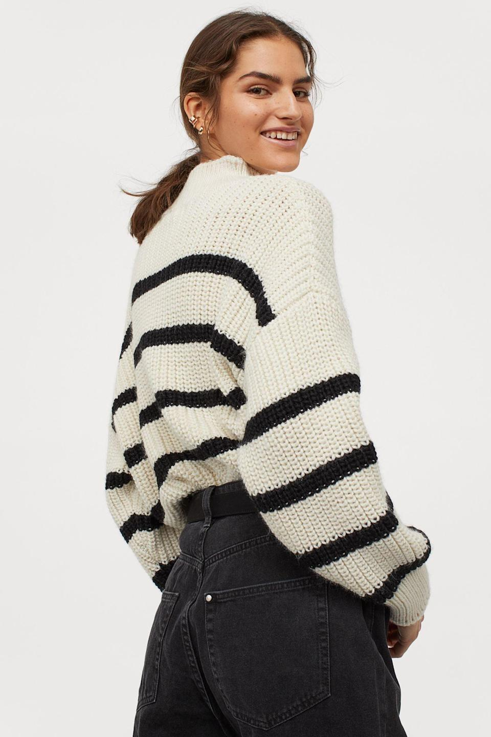 <p>You'll feel warm and toasty in this classic <span>H&amp;M Turtleneck Sweater</span> ($30).</p>
