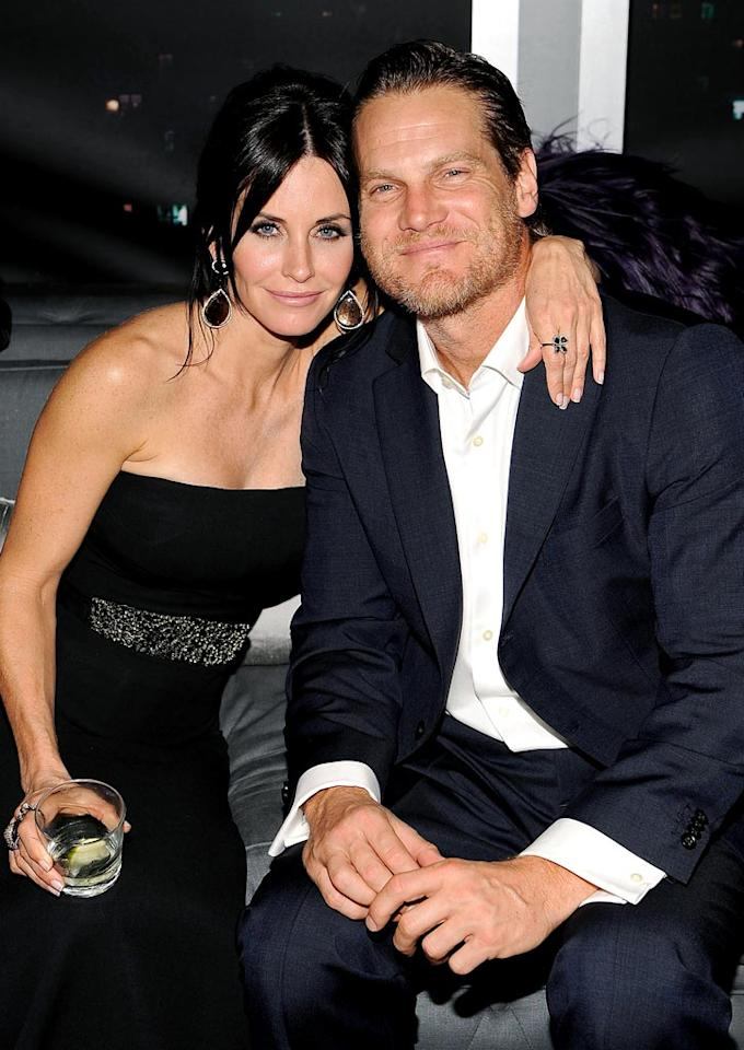 """Hollyscoop reports Courteney Cox has long had """"strong feelings"""" for her """"Cougar Town"""" co-star Brian Van Holt, and notes """"they've been secretly dating for some time."""" The two have been having """"more than just a fling"""" since long before Cox and David Arquette announced their split, according to the website. To find out how hot and heavy things are between the two, check out what a Cox pal dishes to <a href=""""http://www.gossipcop.com/brian-van-holt-courteney-cox-cougar-town/"""" target=""""new"""">Gossip Cop</a>. Larry Busacca/<a href=""""http://www.gettyimages.com/"""" target=""""new"""">GettyImages.com</a> - January 17, 2010"""