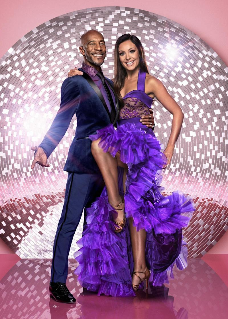 Paired up: Danny John-Jules and Amy Dowden (BBC/PA)
