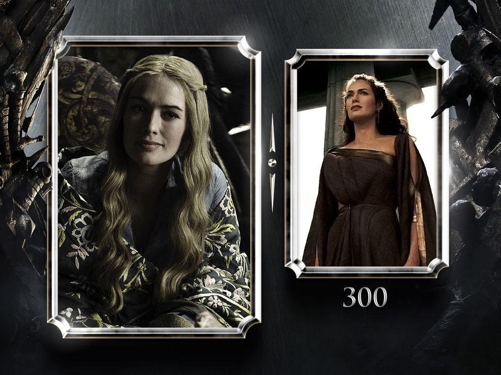 "<a href=""/lena-headey/contributor/28723"">Lena Headey</a> — Current Role: Cersei Lannister, Queen of the Seven Kingdoms and wife of Robert. // Prior Geek Roles: She played Queen Guinevere in the 1998 TV-movie ""<a href=""/merlin-hallmark/show/145"">Merlin</a>,"" Queen Gorgo of Sparta in comic-book adaptation""<a href=""145"" rel=""nofollow"">300</a>"" and, of course, the queen of cyborg-killing in ""<a href=""http://tv.yahoo.com/terminator-the-sarah-connor-chronicles/show/39221"" rel=""nofollow"">Terminator: The Sarah Connor Chronicles</a>."" <a href=""http://www.televisionwithoutpity.com/show/game_of_thrones/game_of_thrones_the_casts_geek.php?__source=tw
