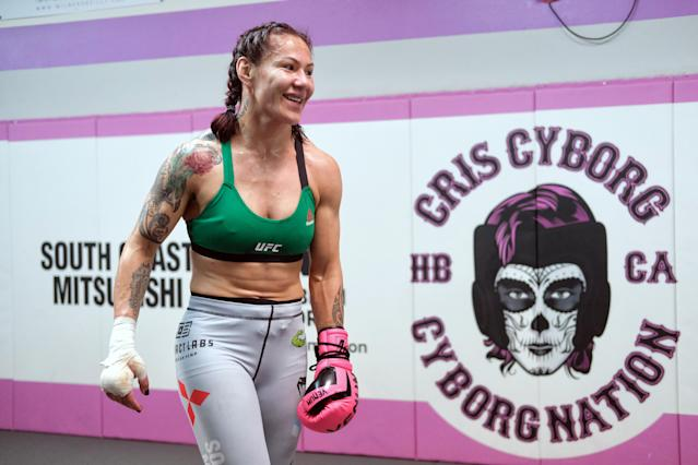 Cris Cyborg is now a mom after adopting her brother's daughter. (Getty Images)
