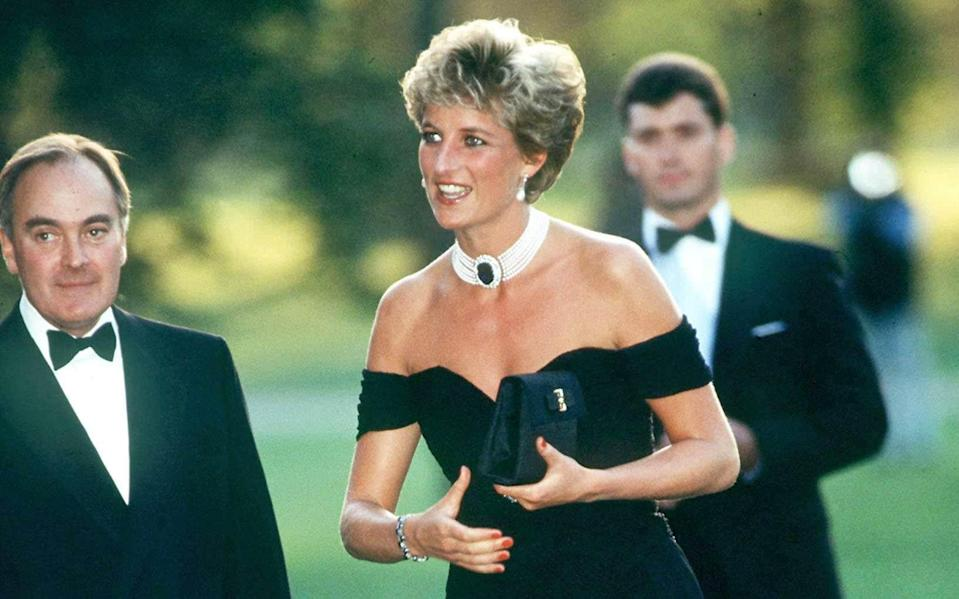 Princess Diana's 'revenge' dress, worn at the Serpentine Summer party in 1994 - Getty/ Tim Graham