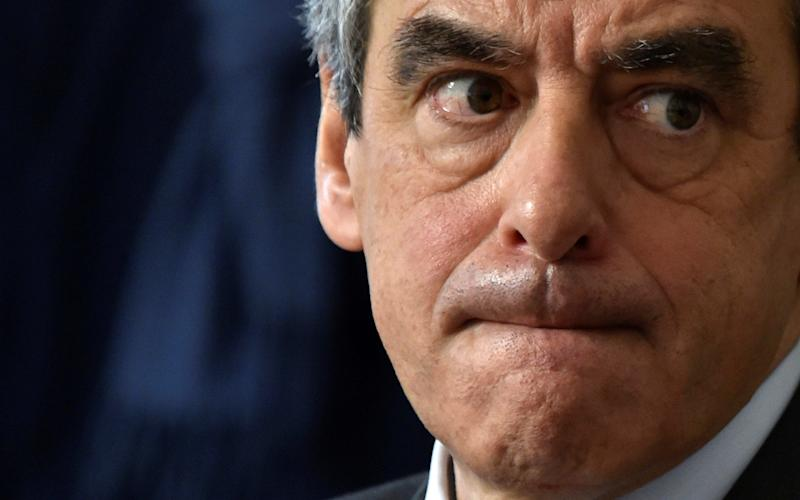 Francois Fillon, former French prime minister, member of The Republicans political party and 2017 presidential election candidate of the French centre-right -  FRANCE-ELECTION/FILLON