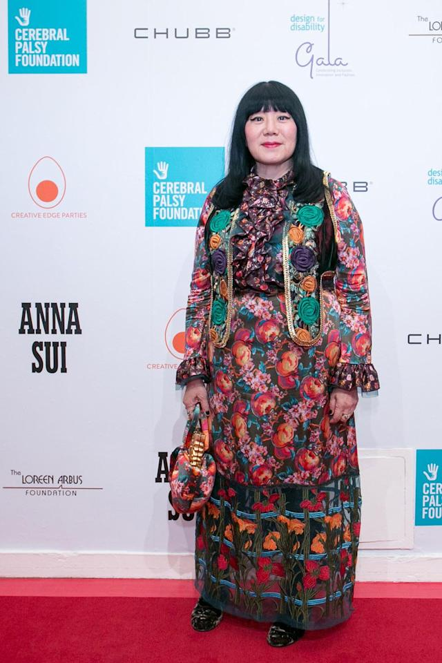 Anna Sui at the Cerebral Palsy Foundation Design for Disability Fashion Show and Gala at the Metropolitan Pavilion, New York City, May 9, 2018. (Photo: Jeffrey Holmes)