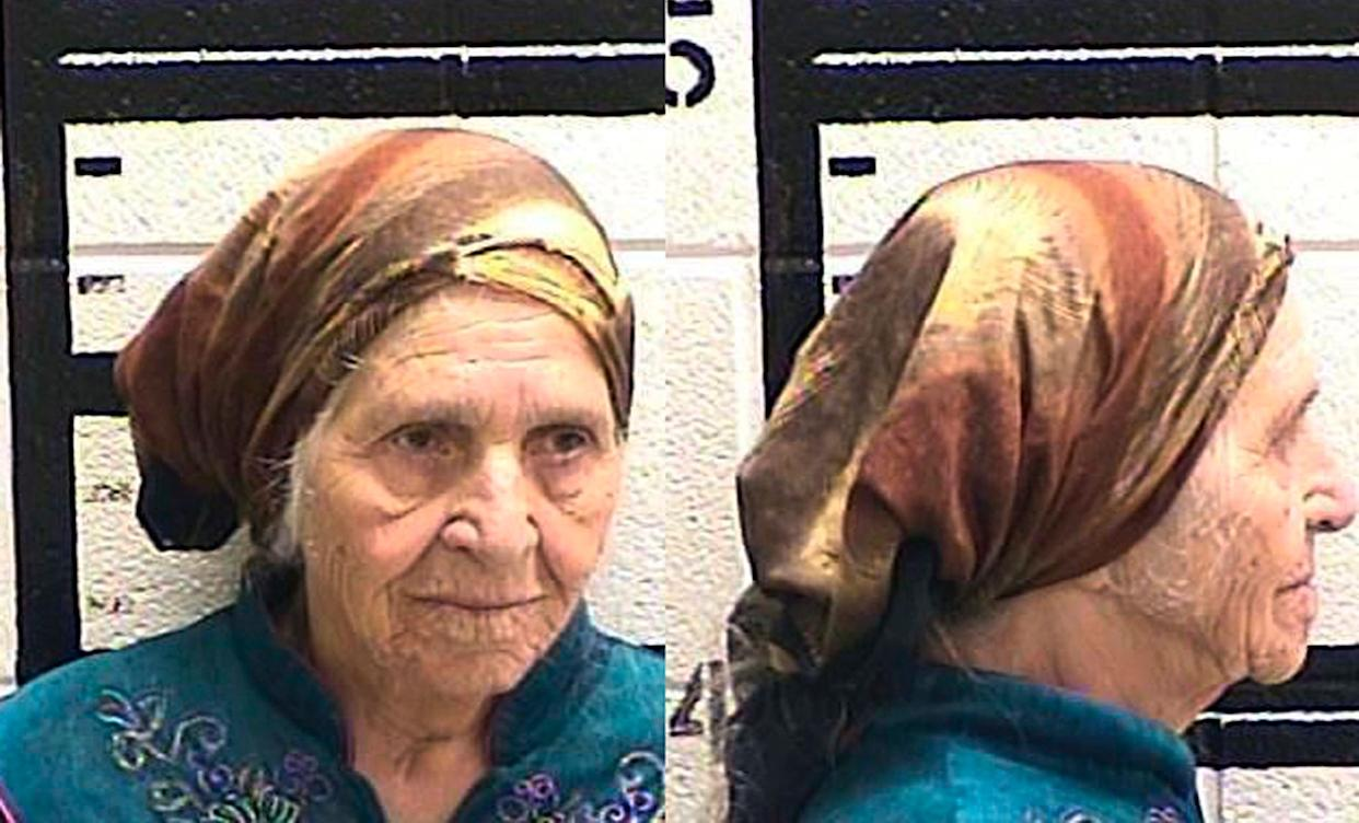 Martha Al-Bishara, 87,was charged with criminal trespass and obstructing an officer Friday after she was seen holding a knife. Her family said she was cutting flowers. (Photo: Murray County Jail/AP)