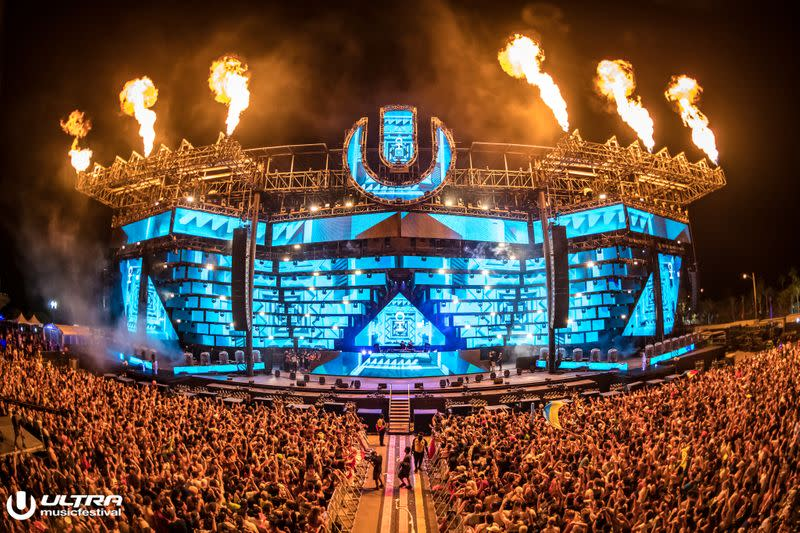 Dutch DJ Oliver Heldens performs during the Ultra Music Festival Miami