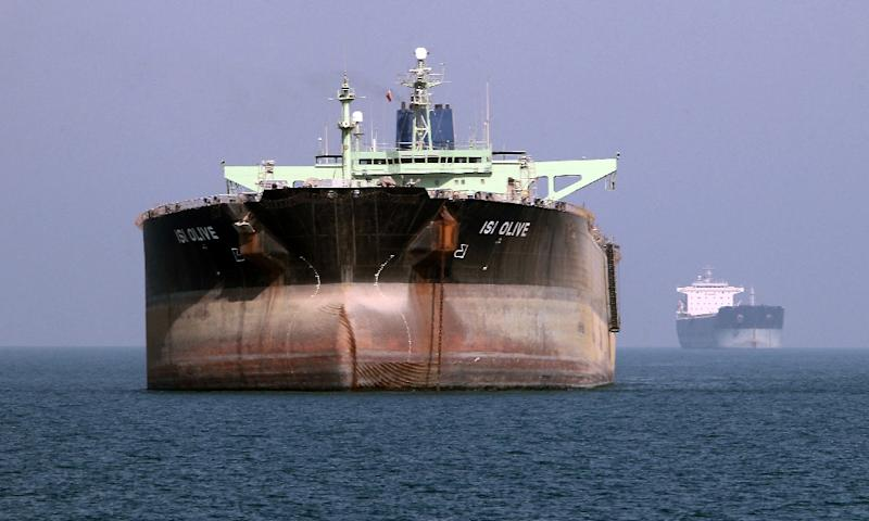 An oil tanker is seen off the port of Bandar Abbas, southern Iran, on July 2, 2012 (AFP Photo/Atta Kenare)