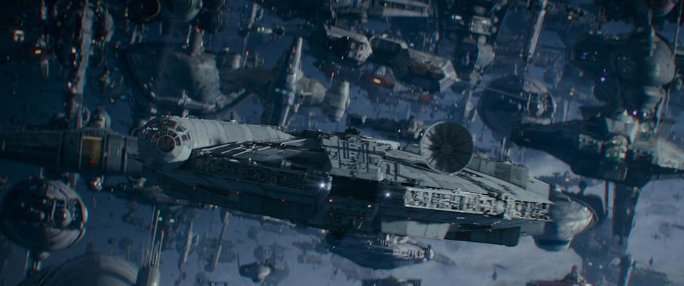 The Lando-led armada in 'The Rise of Skywalker' features some cool cartoon cameos (Photo: Lucasfilm Ltd.)