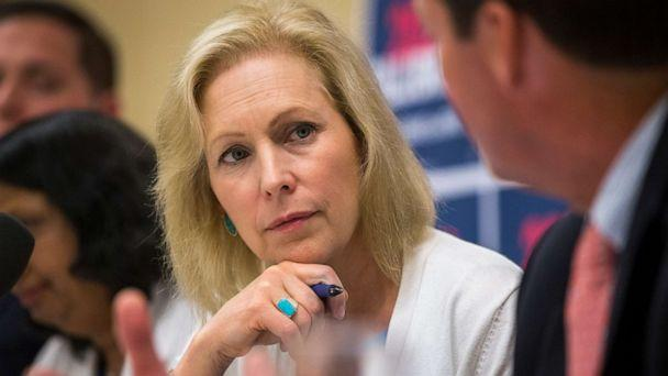 PHOTO: Sen. Kirsten Gillibrand participates in a mental health table discussion at Amoskeag Health in Manchester, N.H., on Aug. 20, 2019. (Boston Globe via Getty Images, FILE)