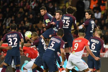 Soccer Football - Ligue 1 - AS Monaco vs Paris St Germain - Stade Louis II, Monaco - November 26, 2017 General view of the action REUTERS/Jean-Pierre Amet