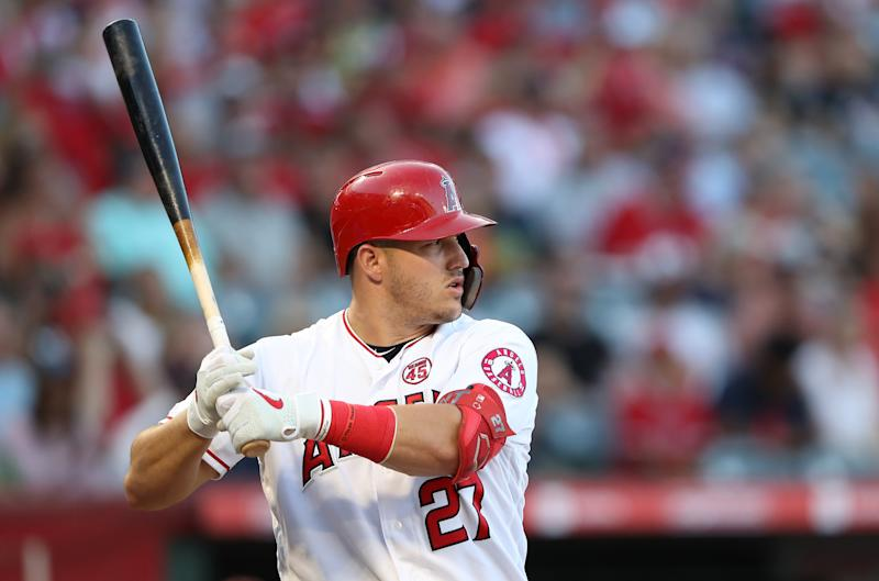 Despite having another amazing season, Mike Trout was actually a little unlucky when it came to BABIP. (Photo by Sean M. Haffey/Getty Images)