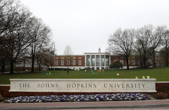 Johns Hopkins University in Baltimore. (Rob Carr/Getty Images)