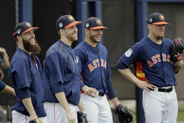 The Astros pitching staff could use a better season from Dallas Keuchel in 2017. (AP)