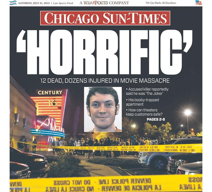Colorado Theater Shooter: Colorado Shooting: How Newspapers Covered The 'Dark Knight