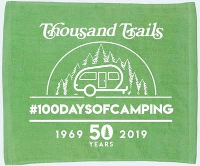 More than 80 campgrounds around the country are participating in the Thousand Trails 50th anniversary celebration and the 5th annual #100daysofcamping campaign this summer! Share photos with your 2019 rally towels using #100daysofcamping, and upload to 100daysofcamping.com
