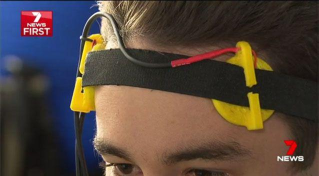 It reads the brain's electrical signals, identifies where those signals need a boost, and increases them by jolting the brain with an electrical current. Source: 7 News