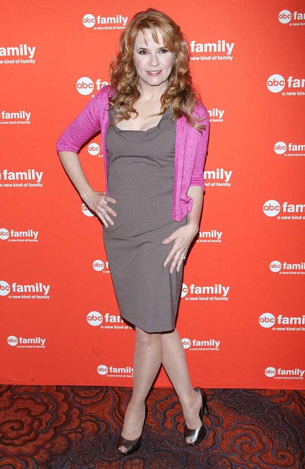 "Lea Thompson (""<a href=""http://tv.yahoo.com/switched-at-birth/show/47111/"">Switched at Birth</a>"") attends ABC Family's 2012 Upfront Presentation at the Mandarin Oriental Hotel on March 19, 2012 in New York City."