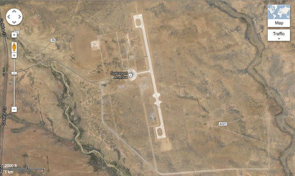 Spaceport America is located in the middle of the desert in southern New Mexico.