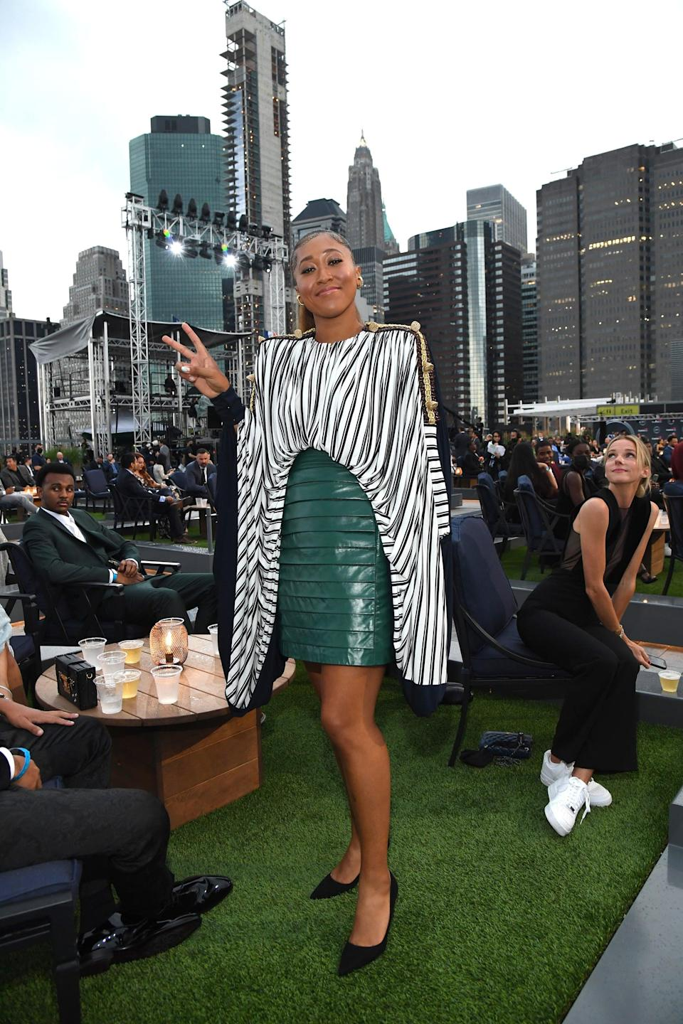 """<p>At the 2021 ESPY Awards, <a href=""""https://www.popsugar.com/fitness/naomi-osaka-wins-best-athlete-womens-sports-2021-espys-48413471"""" class=""""link rapid-noclick-resp"""" rel=""""nofollow noopener"""" target=""""_blank"""" data-ylk=""""slk:Naomi was awarded best athlete in women's sports"""">Naomi was awarded best athlete in women's sports</a>, and though the couple did not make their red carpet debut, they did take a few photos together before and after the awards ceremony, which <a href=""""http://www.instagram.com/p/CRMilBcJH15/"""" class=""""link rapid-noclick-resp"""" rel=""""nofollow noopener"""" target=""""_blank"""" data-ylk=""""slk:Naomi later shared to Instagram"""">Naomi later shared to Instagram</a>. </p>"""