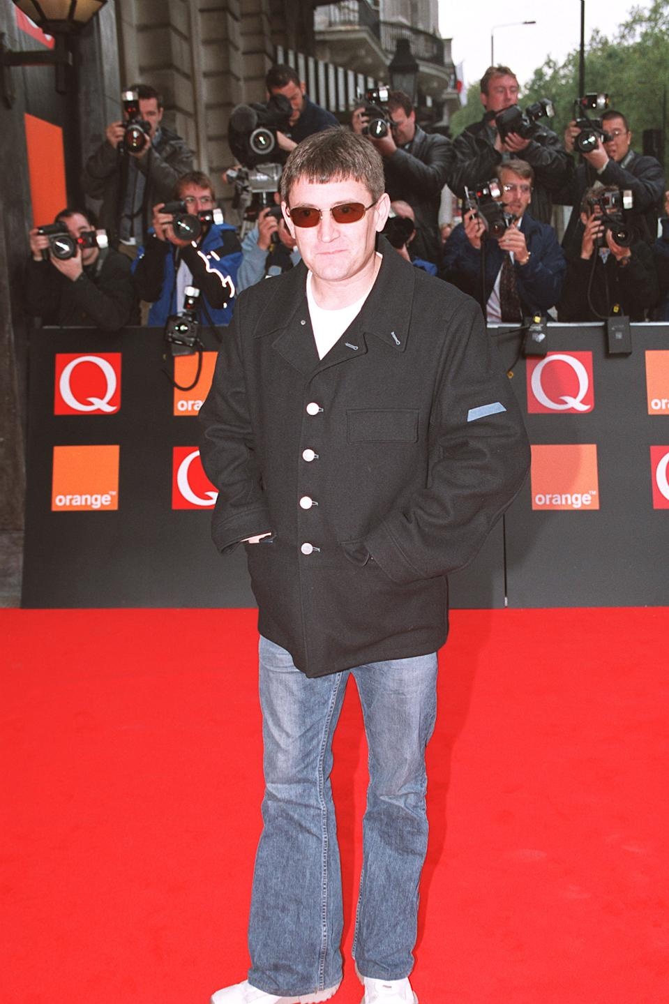 "Paul Heaton from the Beautiful South arrives at The Park Lane Hotel for the ""Q"" awards. (Photo by rune hellestad/Corbis via Getty Images)"