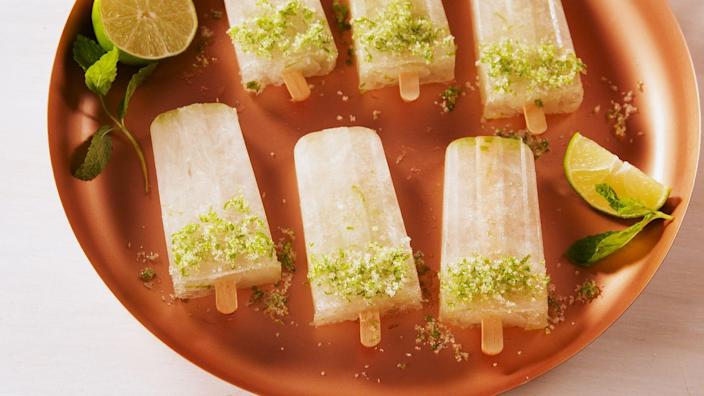 """<p>The PERFECT party pop.</p><p>Get the recipe from <a href=""""https://www.delish.com/cooking/recipe-ideas/a21968639/moscow-mule-pops-recipe/"""" rel=""""nofollow noopener"""" target=""""_blank"""" data-ylk=""""slk:Delish."""" class=""""link rapid-noclick-resp"""">Delish. </a> </p>"""