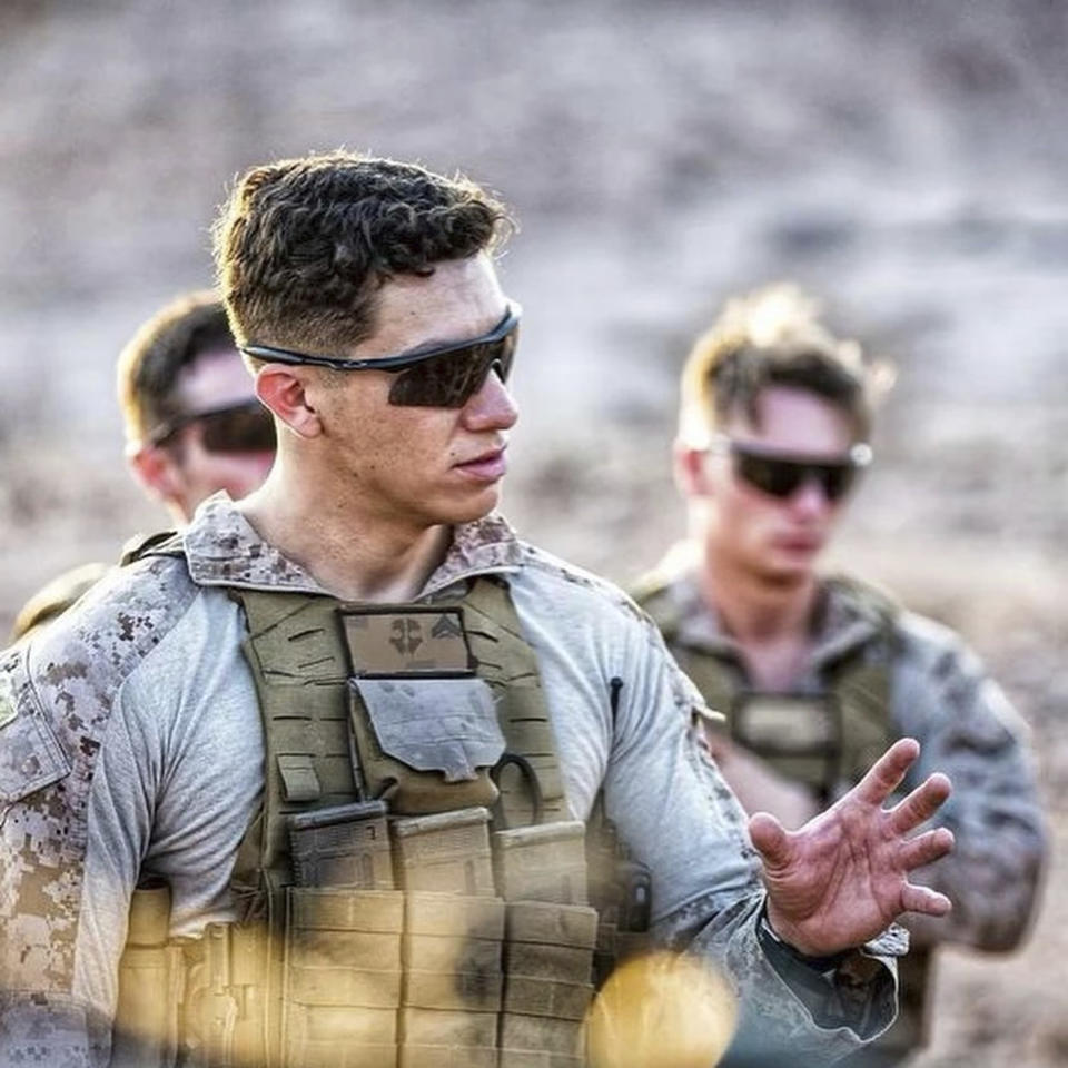 This undated photo released by the Riverside County Sheriff's Department shows U.S. Marine Corps Cpl. Hunter Lopez, 22. Marine Corps Cpl. Hunter Lopez, of Indio, Calif., was killed on Aug. 26, in the bomb attacks in Kabul, Afghanistan. Cpl. Lopez, whose parents work at the Riverside County Sheriff's Department in Southern California, was a sheriff's Explorer for three years before joining the Marine Corps in September 2017, Sheriff Chad Bianco said. Bianco said Lopez planned to follow in his parents' footsteps and become a Riverside County Sheriff's Deputy after his deployment. (Riverside County Sheriff's Department via AP)