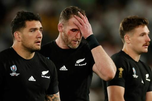 Kieran Read (C) still appeared shaken after failing to lead the All Blacks to a third successive title