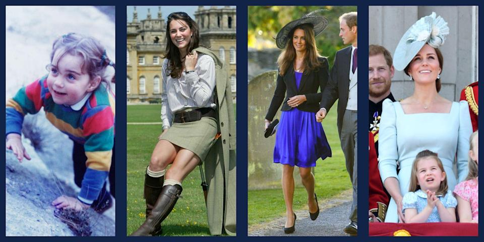 <p>When she celebrates her wedding anniversary on April 29, Kate Middleton will have been a member of the royal family for a decade. Alongside William, she's traveled to far-flung countries and grown into her role as a senior member of the royal family. She's also had three children: Prince George, Princess Charlotte, and Prince Louis.</p><p>But Kate's life didn't start when she got her royal title. The Duchess lead an equally interesting life before tying the knot with William, from spending a couple early years living in Jordan to studying Art History at St. Andrew's. Here, relive Kate's most iconic moments in photos.</p>