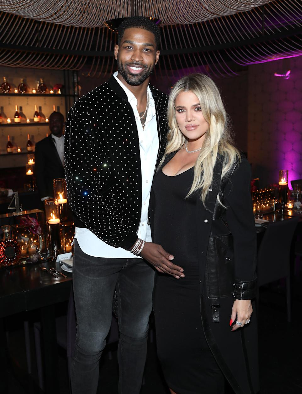 NBA star Tristan Thompson is accused of allegedly cheating on pregnant girlfriend, Khloé Kardashian. (Getty Images)