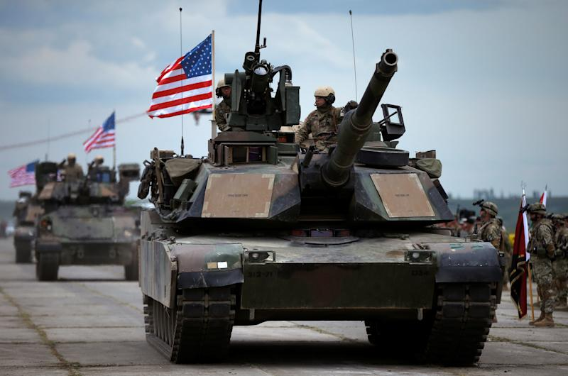 Transporting U.S. tanks to Washington, D.C., would be costly.  (David Mdzinarishvili / Reuters)