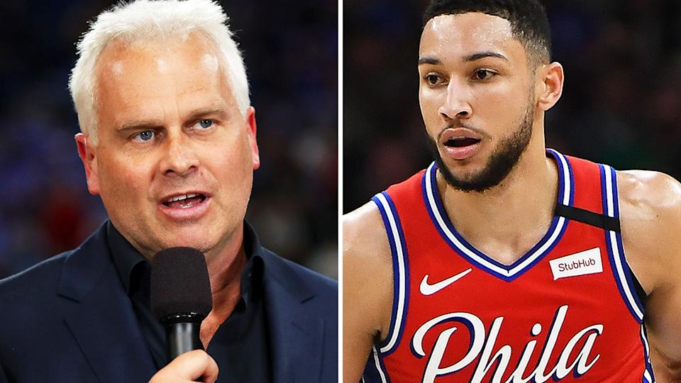 Australian basketball great Shane Heal says Ben Simmons' future with the Philadelphia 76ers is becoming untenable as their standoff continues. Pictures: Getty Images