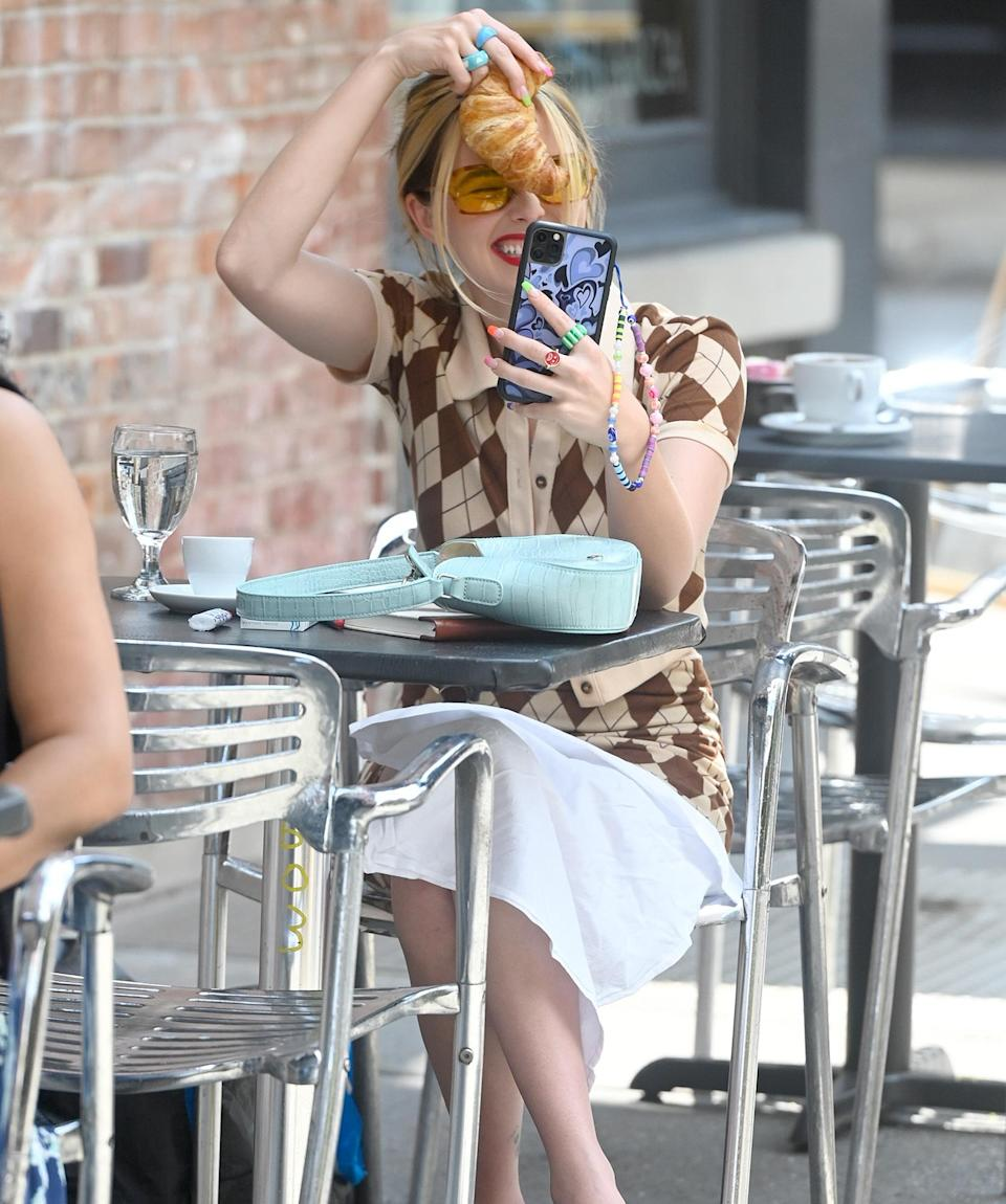 <p>Zoey Deutch gets goofy while filming her latest project on July 30 in N.Y.C.</p>