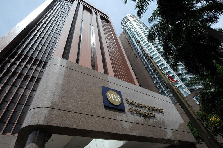 """A view of the Monetary Authority of Singapore (MAS) building, pictured on April 14, 2009. MAS expressed concern on Tuesday at the growing mountain of household debt and surging property prices, saying they posed """"significant risks"""" to the country's financial system"""