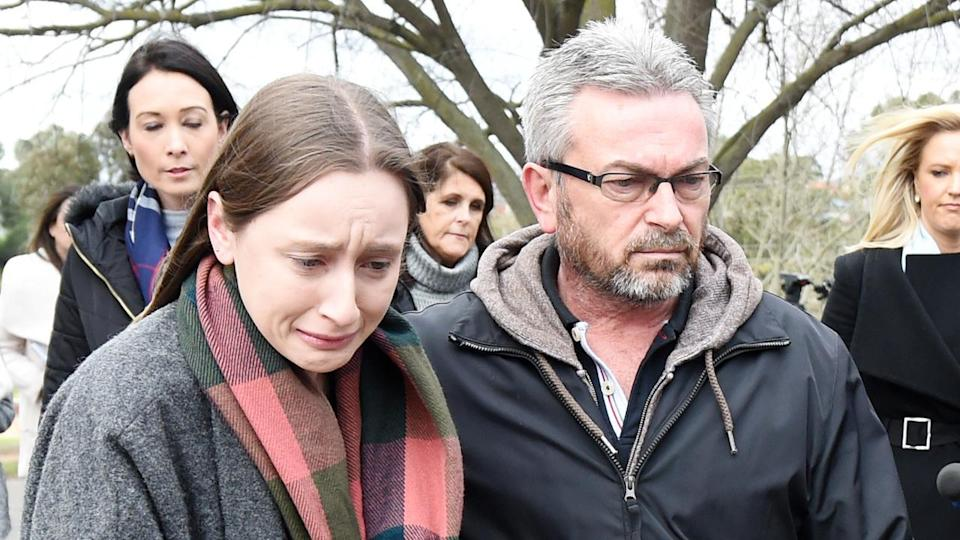 The relative of Karen Ristevski believes Borce did what he did after killing his wife to spare his daughter, Sarah. Source: AAP
