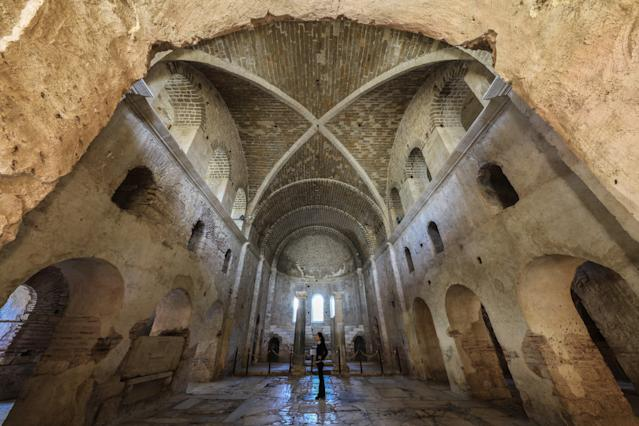 St. Nicholas Church in Antalya, Turkey, is believed to be the original resting place of the famous saint before his remains wereremoved. (Anadolu Agency via Getty Images)