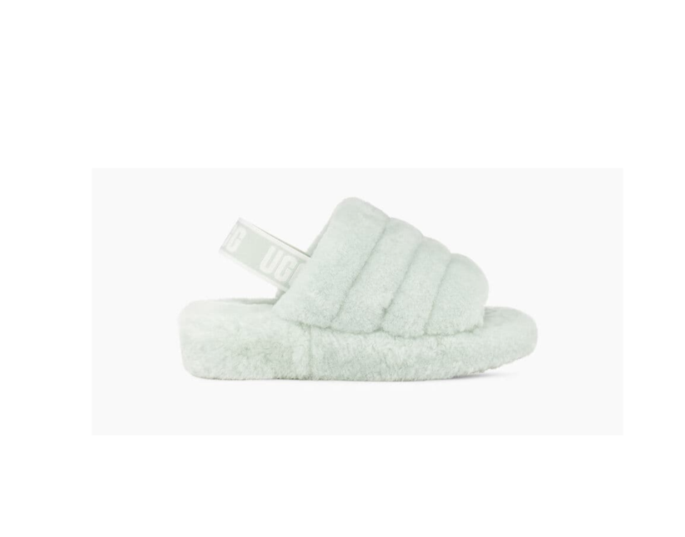"""<p><strong>UGG</strong></p><p>nordstrom.com</p><p><strong>$74.96</strong></p><p><a href=""""https://go.redirectingat.com?id=74968X1596630&url=https%3A%2F%2Fshop.nordstrom.com%2Fs%2Fugg-fluff-yeah-genuine-shearling-slide-women%2F5011191&sref=https%3A%2F%2Fwww.cosmopolitan.com%2Fstyle-beauty%2Ffashion%2Fg33332993%2Fgifts-for-black-women%2F"""" rel=""""nofollow noopener"""" target=""""_blank"""" data-ylk=""""slk:Shop Now"""" class=""""link rapid-noclick-resp"""">Shop Now</a></p><p>Fuzzy, cozy anything is always a great gift. These Ugg sandals get extra love though because they're sturdy enough to wear outside of the house.</p>"""