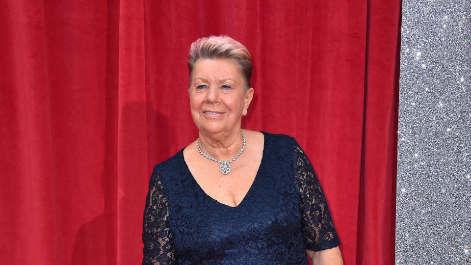 Laila Morse attending the British Soap Awards 2018. (Photo by Matt Crossick/PA Images via Getty Images)