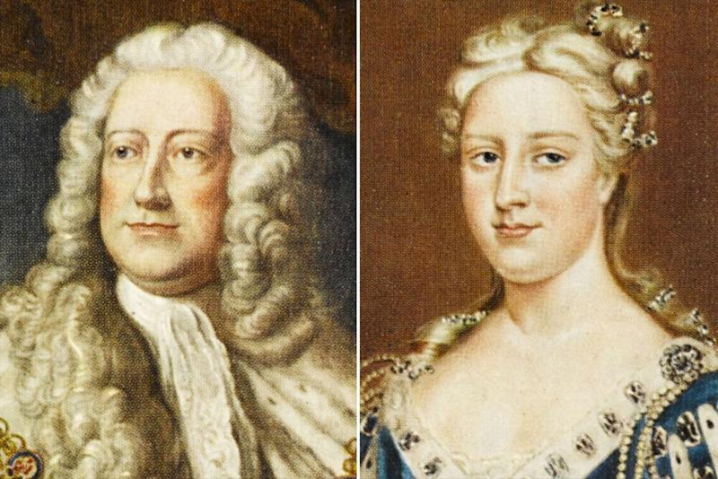 George II and Caroline of Ansbach | Historia/Shutterstock (2)