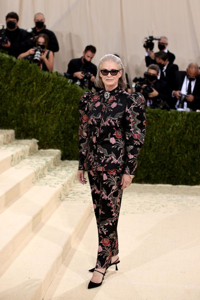 Lisa Love on the red carpet at the Met Gala 2021