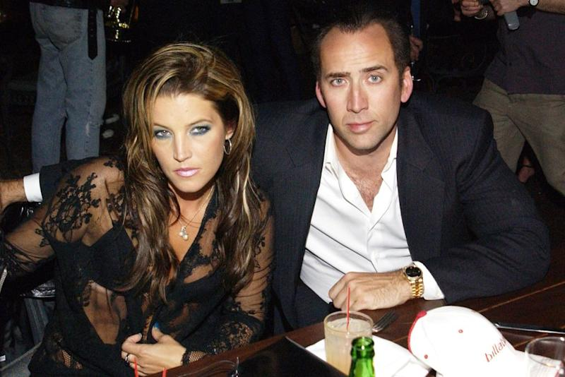 Lisa Marie Presley and Nicolas Cage | L. Busacca/WireImage