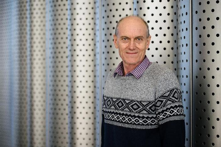 Professor Chris Stephenson poses for a photograph in central London on March 17, 2016 (AFP Photo/Leon Neal)