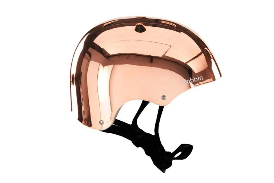 <p><span>Bobbin Mirror Mirror Helmet Rose Gold Copper</span> ($59)</p>