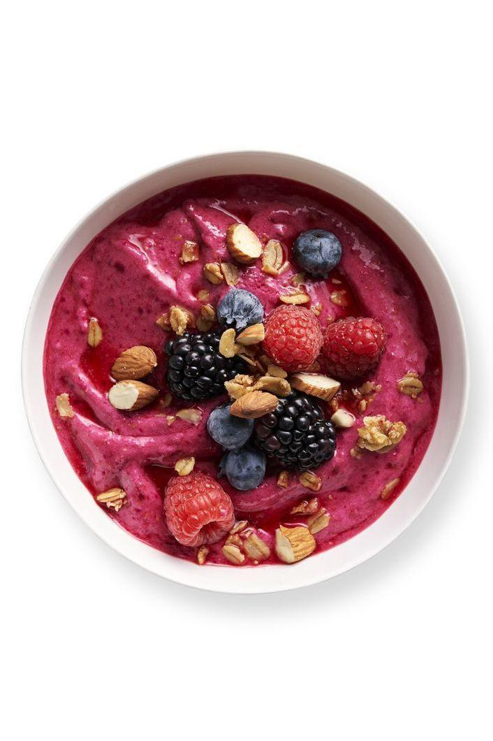 "<p>This bright bowl will bring a little color to your morning, and a lot of nutrients to your day. This smoothie includes beets, which are rich in nutrients and have been known to <a href=""https://www.healthline.com/nutrition/benefits-of-beets#TOC_TITLE_HDR_3"" rel=""nofollow noopener"" target=""_blank"" data-ylk=""slk:keep blood pressure in check"" class=""link rapid-noclick-resp"">keep blood pressure in check</a>, according to Healthline. <br></p><p><em><a href=""https://www.womansday.com/food-recipes/a30614816/raspberry-smoothie-bowls-recipe/"" rel=""nofollow noopener"" target=""_blank"" data-ylk=""slk:Get the Raspberry Smoothie Bowls recipe."" class=""link rapid-noclick-resp"">Get the Raspberry Smoothie Bowls recipe.</a></em></p>"